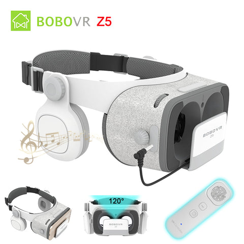 BOBOVR Z5 Daydream Stereo 3D Glasses VR Cardboard Helmet Virtual Reality Phone Headset Box for 4.7-6.2'+ Gyro VR Controller