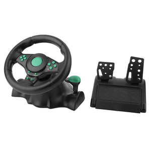 ONLENY 180 Degree Rotation Gaming Vibration Racing Car Steering Wheel With Pedals For XBOX 360 For PS2 For PS3 PC USB