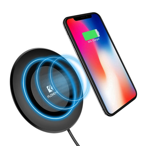 FLOVEME Qi Wireless Charger For iPhone X 8 8 Plus