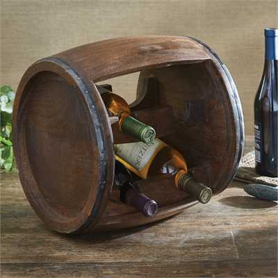 Wood Case Barrel Wine Rack