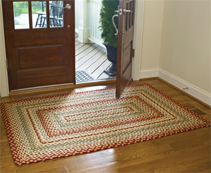 braided area throw rug rustic lodge country home decor