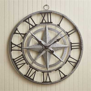Large Compass Wall Clock