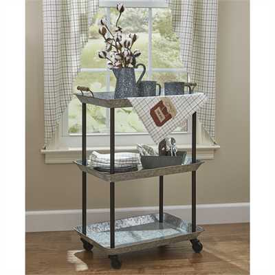Galvanized Utility Kitchen Cart
