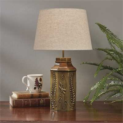 Garden Butterfly Embossed Lamp with Shade