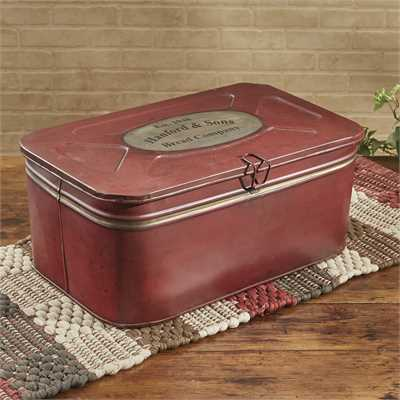 Hanford Red Metal Storage Box