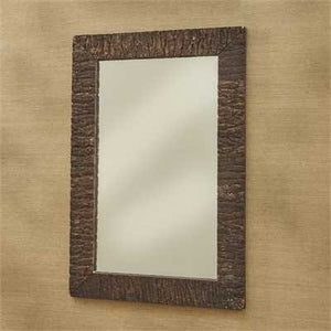 Wood Bark Rectangle Mirror