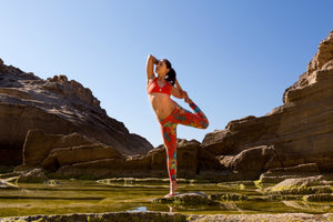 Girl doing yoga pose at Grand Canyon