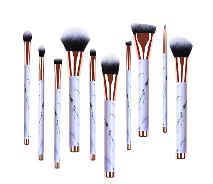 Real Perfection Professional Marble Makeup Brushes