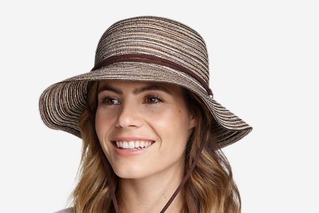 Women's Packable Wide-Brimmed Straw Hat by Eddie Bauer