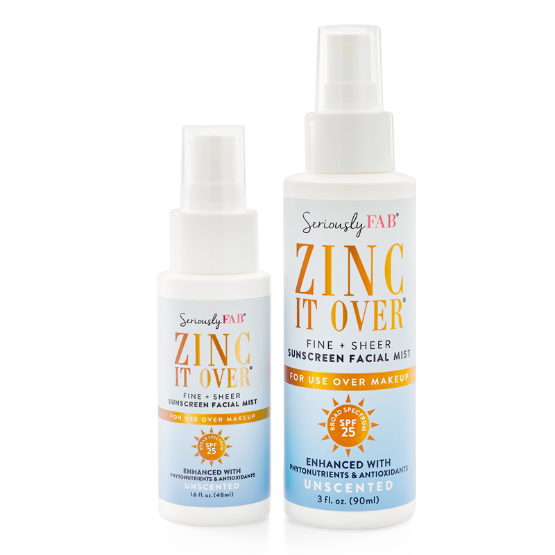 Unscented sheer zinc sunscreen mist