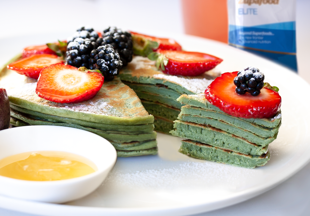 Spirulina Pancakes with Zupafood Elite
