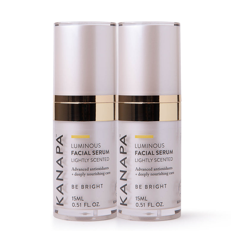 Buy our Luminous Facial Serum Set online now in New Zealand - Containing two ultra-hydrating facial serums with hyaluronic acid and stem cell technology for powerful anti-aging results. Firmer, brighter, younger looking skin.