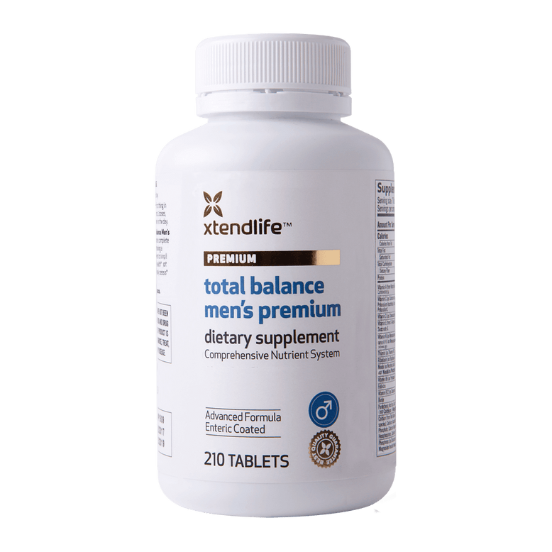 Buy our Total Balance Men's Premium online now in New Zealand - An advanced nutrient system containing bio-active male-specific vitamins, minerals, nutrients, antioxidants & herbs for optimal male health.