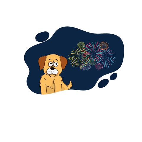 dogs and fireworks