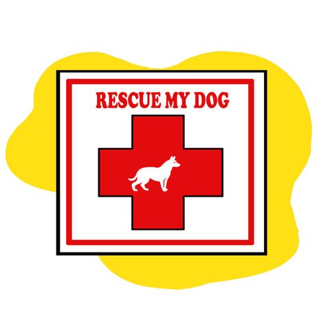 rescue alert sticker