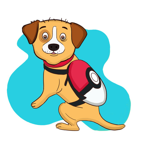 dog halloween costume - pokeball costume