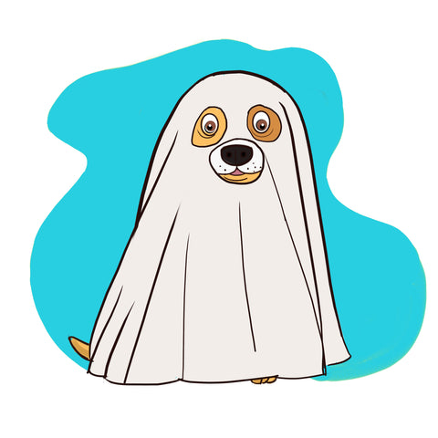 dog halloween costume - ghost dog costume