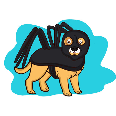 dog halloween costume - spider costume
