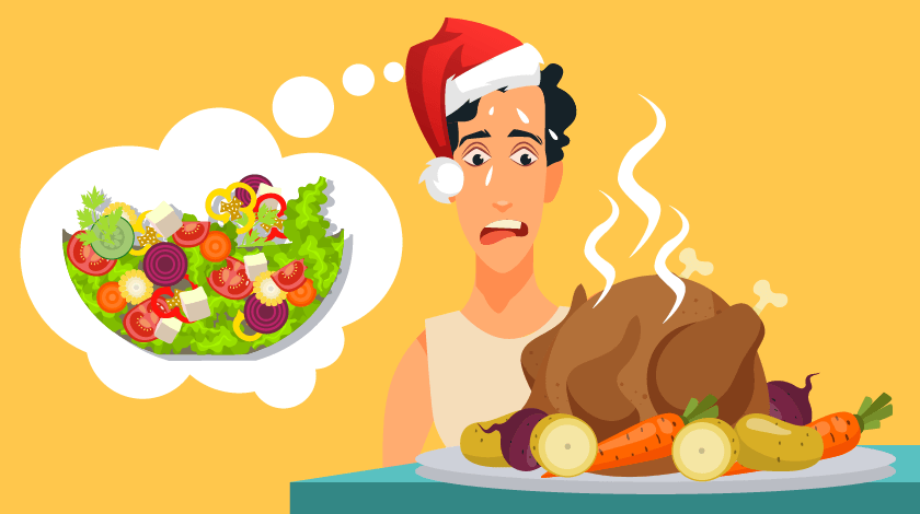 The danger of eating out of season: the traditional Christmas dinner is a lot less enjoyable in the summer than when it's snowing outside!