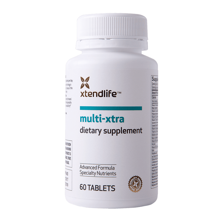 Buy our Multi-Xtra online now in the United Kingdom - A premium quality multi-vitamin containing 42 bioavailable vitamins, minerals, nutrients, antioxidants & herbs to help promote optimal health.