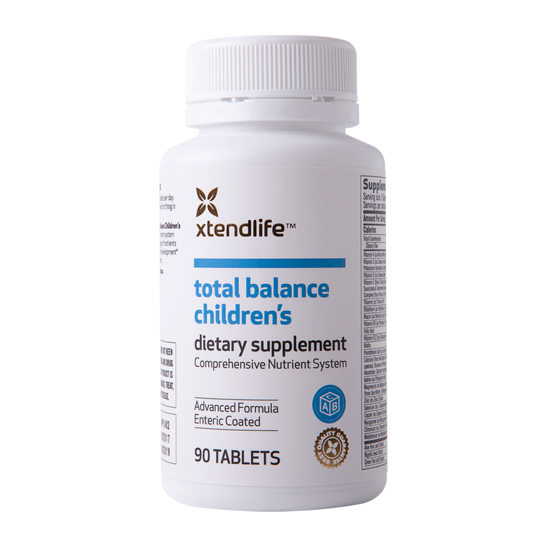 Buy our Total Balance Children's online now in the United Kingdom - Containing over 85 bio-active ingredients which support your child's immune system, development, and vision.