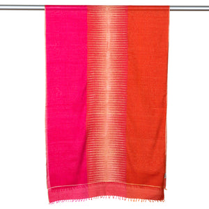 Jamdani Cotton Scarf With Muga Silk Pattern