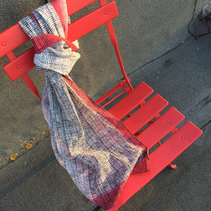 Block Printed And Dyed Cotton Scarf