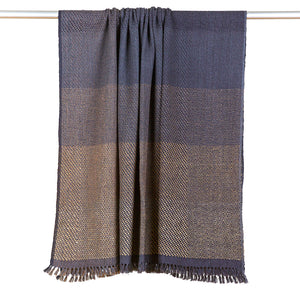 Wool Silk Blend Throw