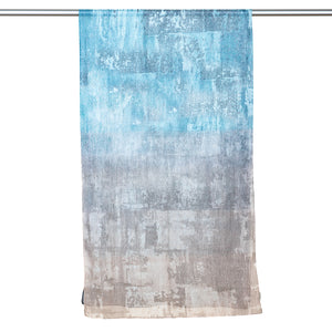 Digitally Printed Cotton Scarf - Blue/Grey Abstract