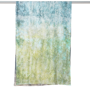 Digitally Printed  Cotton Scarf - Lime/Brown Abstract