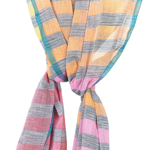Handwoven Multi Stripe Cotton Scarf