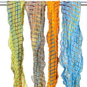 Tie Dyed Cotton Silk Blend Scarves