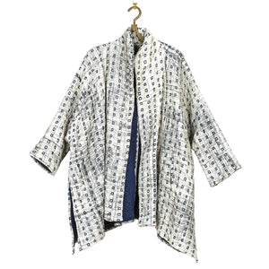 Hand Embroidered Quilted Cotton Jacket