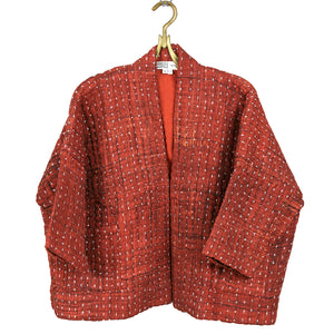 Hand Embroidered Classic Quilted Cotton Kimono Jacket