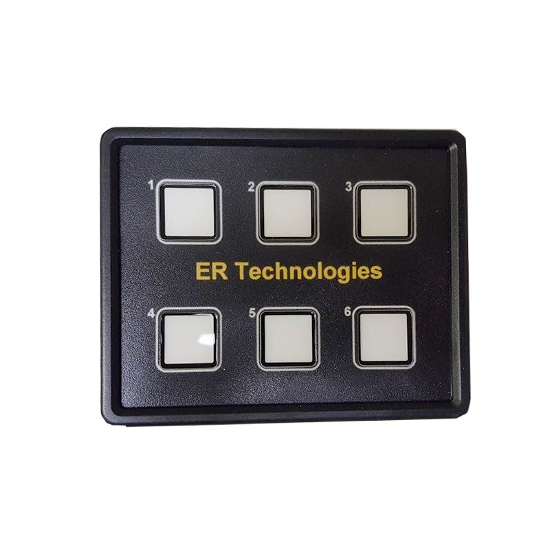 6 Switch Touch Panel Power System Includes customized off-road button labels - RLB