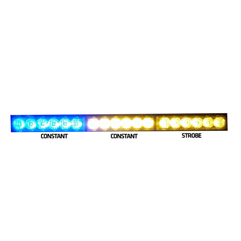 "Rear Chase Light Bar 17"" - Blue & Amber Combo - RLB"