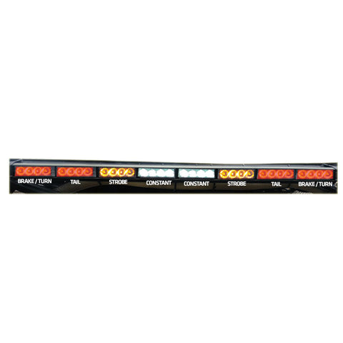 "Rear Chase Light Bar 36"" - Amber Strobes - 4x8 - RLB"