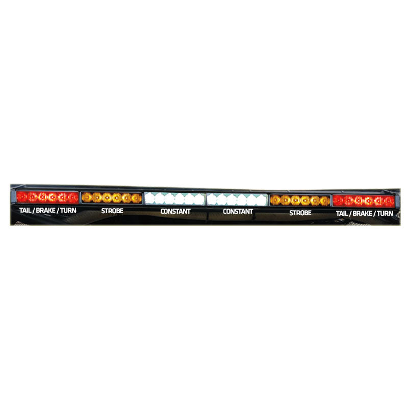 "Rear Chase Light Bar 36"" - Amber Strobes - 6x6 - RLB"