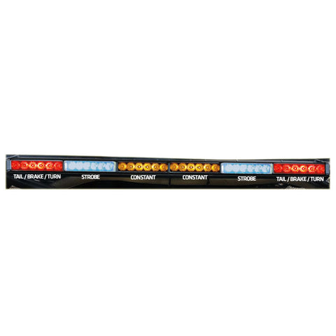 "Rear Chase Light Bar 36"" - Blue Strobes - 6x6 - RLB"