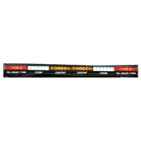 "Rear Chase Light Bar 36"" - White Strobes - 6x6 - RLB"