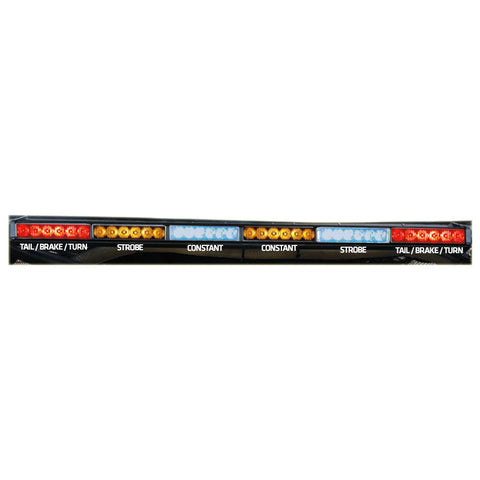 "Rear Chase Light Bar 36"" - Blue & Amber Strobes - 6x6 - RLB"