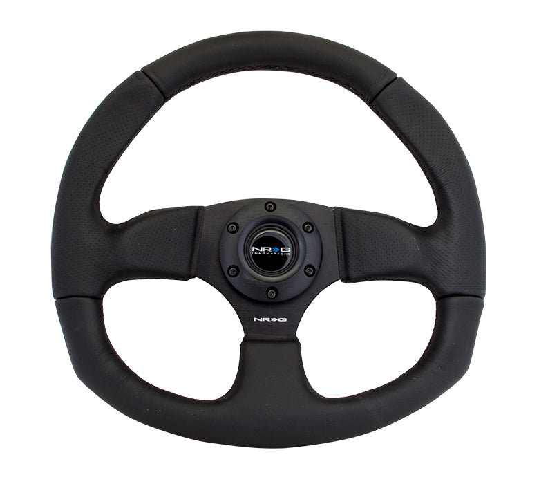 Premium Leather - Flat Bottom - Steering Wheel - NRG
