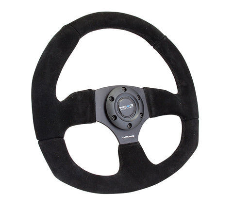 Premium Suede - Flat Bottom - Steering Wheel - NRG
