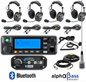 RRP696 4-Place Intercom with Digital Mobile Radio and AlphaBass Headsets