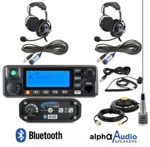 RRP696 2-Place Intercom with Digital Mobile Radio and OTU Headsets
