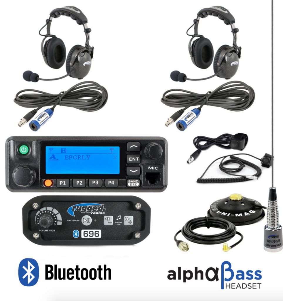 RRP696 2-Place Intercom with Digital Mobile Radio and AlphaBass Headsets