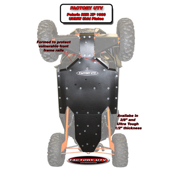 "POLARIS RZR XP 1000 3/8"" UHMW SKID PLATE"