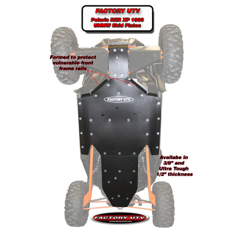 "POLARIS RZR XP 1000 1/2"" UHMW SKID PLATE"