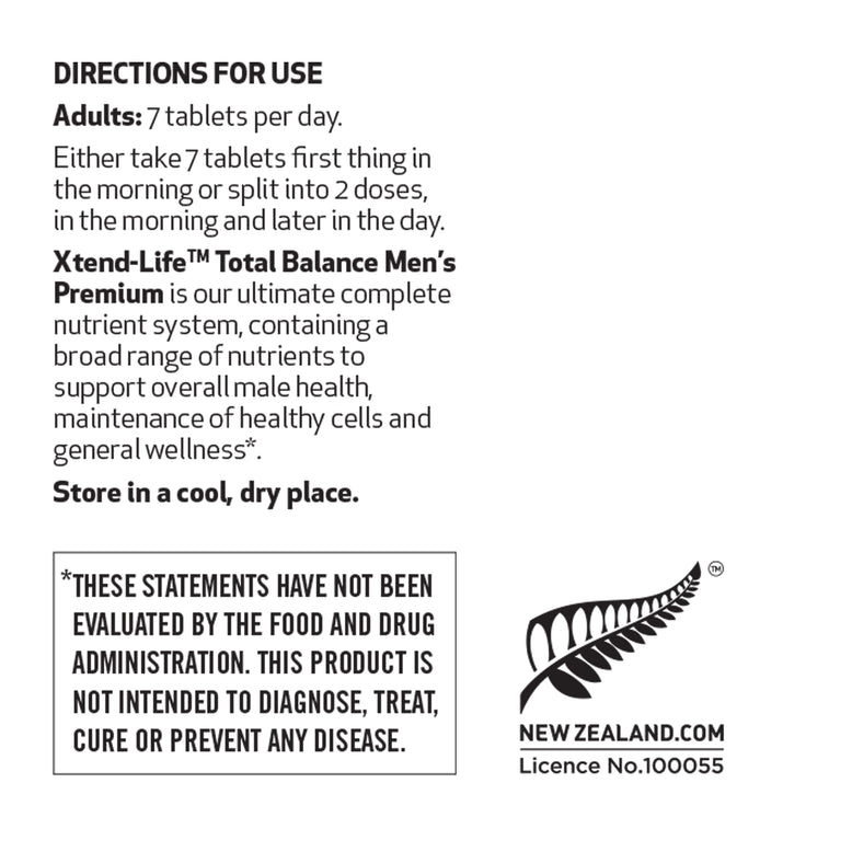 Buy our Total Balance Men's Premium online now in Australia - An advanced nutrient system containing 98 bio-active male-specific vitamins, minerals, nutrients, antioxidants & herbs for optimal male health.