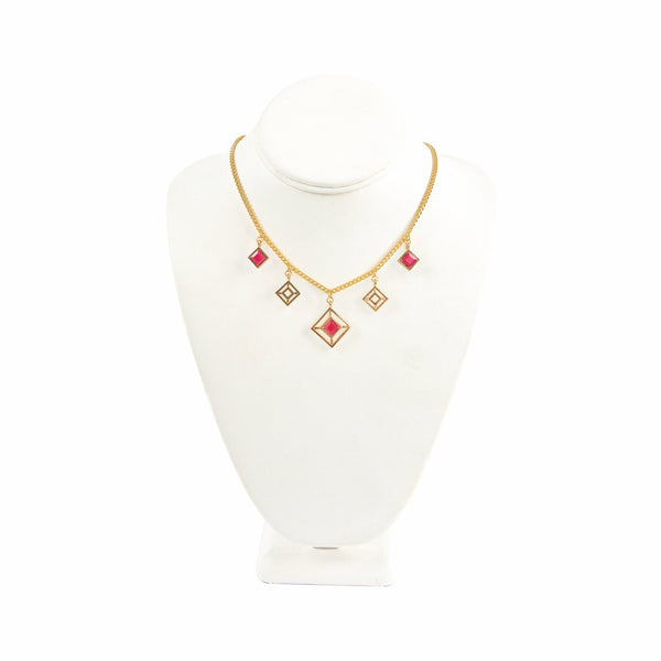 Red Ruby Charmers Necklace